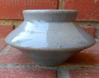 Blue Celadon Gray Light Blue Alien UFO Angular Pot Bowl