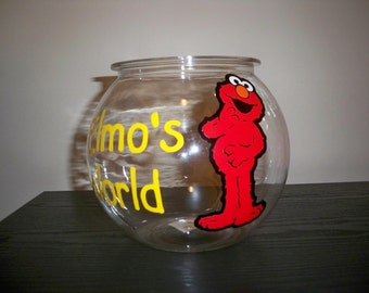 SESAME STREET BIRTHDAYparty fish bowl (1 gallon plastic fish bowl)
