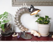 RESERVED for ROXY - Real Vertebrae Industrial Table Lamp
