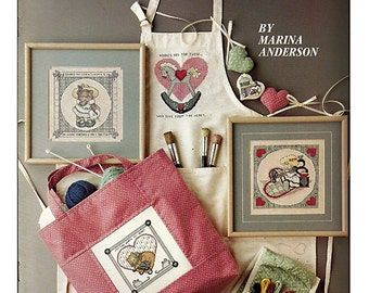 For Needlework Lovers   Cross Stitch Pattern Book  Leisure Arts Leaflet 616