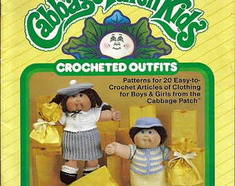 Cabbage Patch Kids Crocheted Outfits Xavier Roberts Plaid 7867