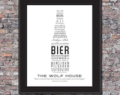 German Beer Lover Custom 8 x 10 Canvas