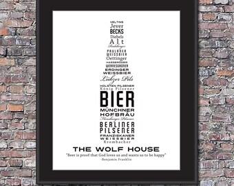 German Beer Lover Custom 8 x 10 Canvas