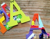 1 Letter DIY Garland Custom from Board Books - Handmade - Made in the USA - Personalized - Celebration - Wedding - Baby Name