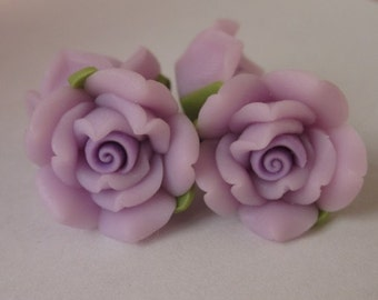10 pcs 14 mm Polymer Clay Flower ,rose,Beads, FIMO, Pendant Charm craft jewelry Necklaces Earrings Bracelet Accessories - 45#