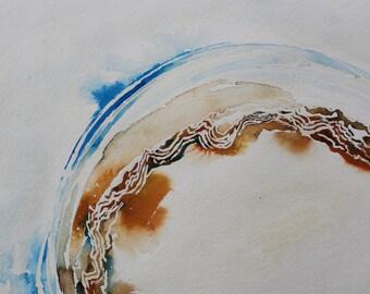 "Original Gouache Painting - ""Curvature"""
