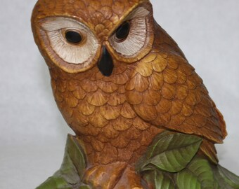 Vintage, Owl Figurine, Wall Hanging, Home Decor