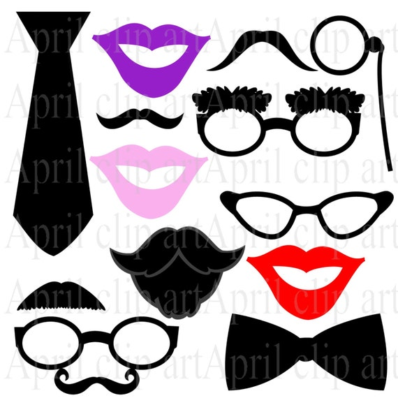 Party Photo Booth Props Printable Photo Booth Prop Clipart