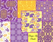 Free Spirit, MORNING TIDES By Mark Cessarick Fat Quarter Bundle 8 Fat Quarter's, 1 of each print