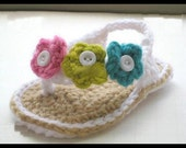 Cozy Crochet Summer Sandals for Newborn Baby Girls