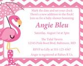 Flamingo Baby Shower Invitation DIY Printable Invite