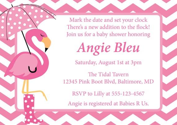 items similar to flamingo baby shower invitation diy printable invite