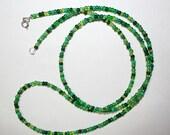 "St Patrick's Necklace 36"" Mixed Green Glass Beads Wrap Anklet Bracelet Handmade by CzechBeadery Women Hippie Southwestern Boho Jewelry Gift"