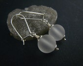 clear quartz earrings,sterling silver
