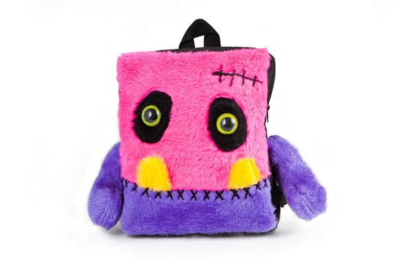 Backpack furry monster bag