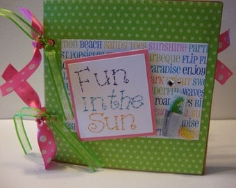 Fun in the Sun paper bag album great for Friends to celebrate a get together or girls night out