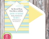 KITE Invitation - Up up and Away Printable Invitation - Kite Birthday Party Invitation by WC Designs