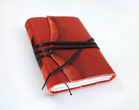 Red Leather Journal - Handmade Journal / Notebook / Diary