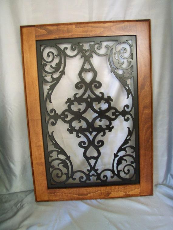 Cabinet Door Panel Insert in decorative iron.Design name is
