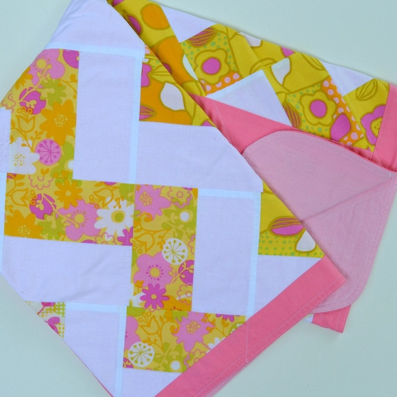 Pink Baby Blanket, Baby Blanket, Chevron, Baby Bedding, Baby Girl
