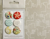 """Badges / Adhesive buttons """"Travel Set 2"""" - Holidays Vacation Road Trip"""