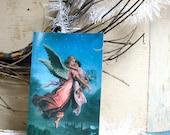 RESERVED for Nance: 16 Vintage guardian angel postcard, standard post card size.