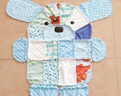 PDF Pattern for Puppy shaped rag quilt.