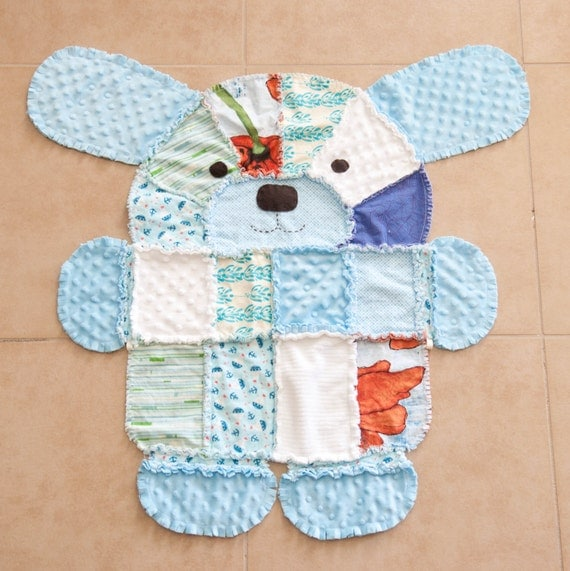 Rag Quilt Animal Patterns : PDF Pattern for Puppy shaped rag quilt.