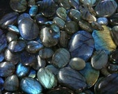 Blue Labradorite Cabochon 4+ Pieces Natural Fine Rainbow Blue Flash 14-25mm Total 100+ ct Gemstone Take 10% Off Labradorite Jewelry Supplies