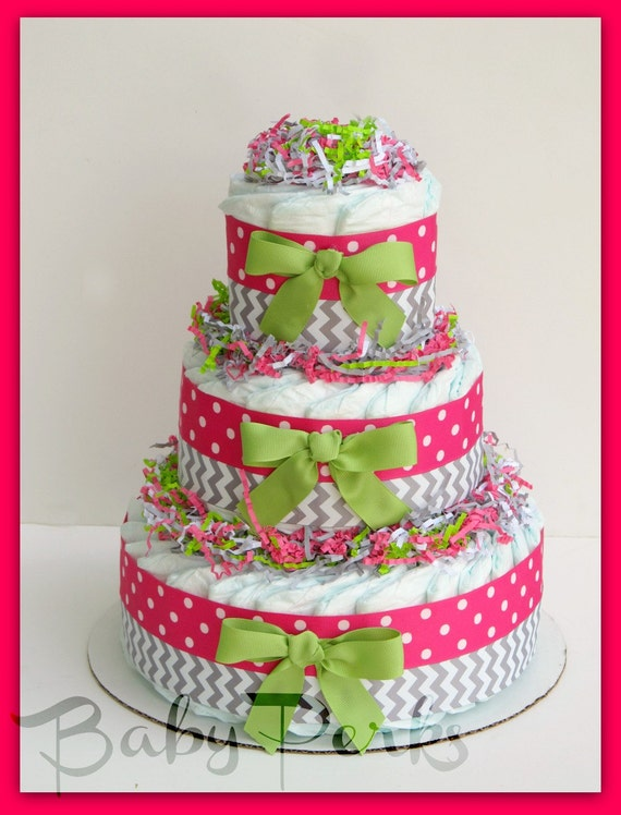 baby girl diaper cake pink and grey baby shower decorations pink