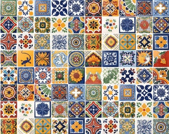 "On Sale-Mexican Talavera Tile 100 2"" x 2"" pieces for your craft or construction project"