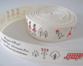 4 meters zakka cotton ribbon, little soldiers