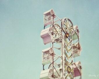 carnival, blue, pastel, summer, fine art photography