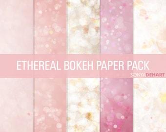 60% OFF SALE Bokeh Digital Paper Bokeh Textures Bokeh Paper Pack
