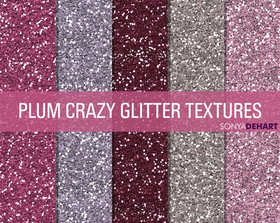 purple glitter digital papers glitter digital glitter papers