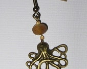 Matte Amber Octopus Earrings