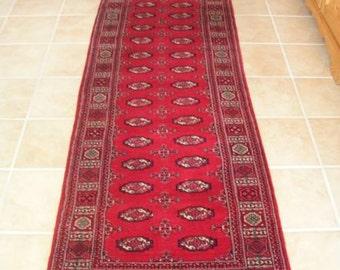 Antique Pursian Wool Rug Runner Handmade and Hand Woven