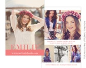 INSTANT DOWNLOAD -Modeling Comp Card Photoshop templates - E751