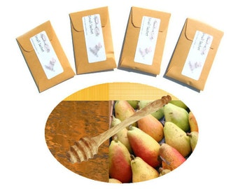 Set Mini Sachets Scented Gift Tags DIY Pear Honey Favors Party Meant to Bee Baby Shower Custom Colors Prizes Gifts for Guests