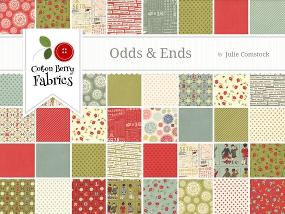 Odds and Ends Layer Cake by Julie Comstock for Moda - One Layer Cake - 37040LC