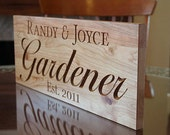 Personalized Anniversary Sign, Last Name Established Sign, Benchmark Custom Signs Cherry AB