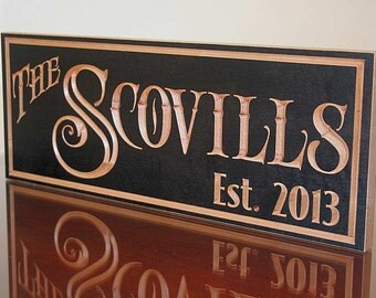 Personalized Family Name Sign, Important Date Sign, Benchmark Custom Signs Maple RY3