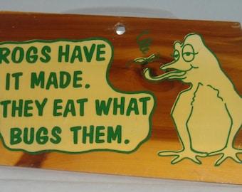 Vintage Frog Sign