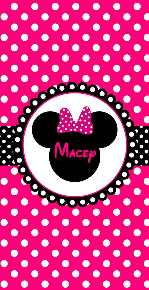 Minnie Mouse Pink Polka Dot Background | Car Interior Design