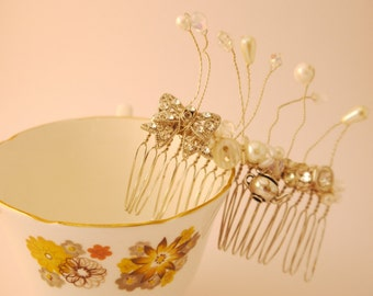 Trinkets and Charm Silver Vintage Upcycled Bridal Comb