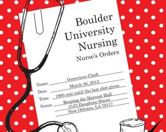 Nursing Party/Graduation Invitation
