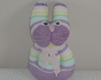 Plush Sock Animal - Violet, CE, toy, children, Plush animal,sock animal,sock doll,stuffed animal,sock creature,animal,uk,bunny,rabbit,easter