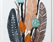Nature Painting, Watercolor Art, Giclee Print, Archival Print, 5x7 Gathering Bundle