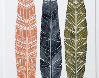 Watercolor Feather Art Painting - Archival Print - Anna Feathers