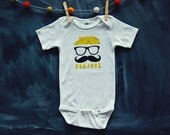 Baby Bodysuit - Mustache French Man - Bonjour